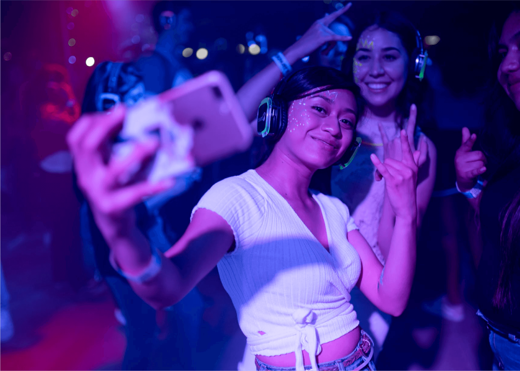Club Night Guest Taking A Selfie