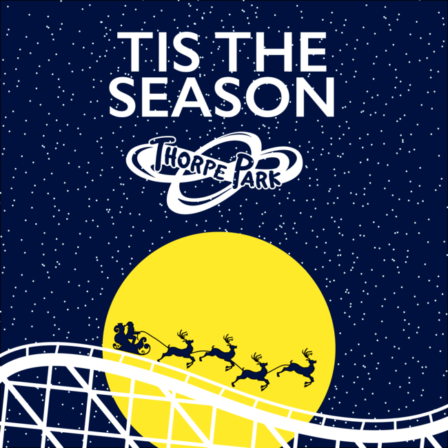 Tis the season, Thorpe Park Christmas visual