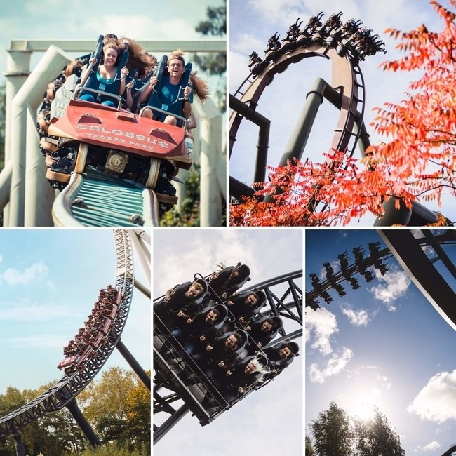 National Coaster Day Rollercoaster Collage