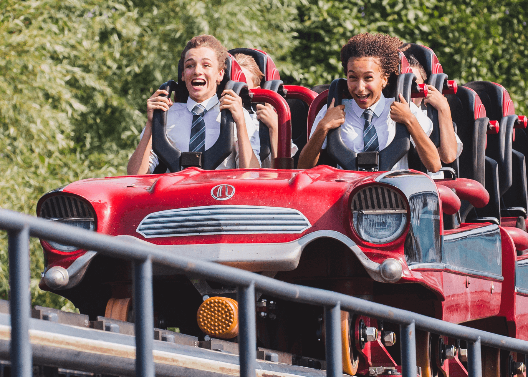 Secondary School Students On Stealth Rollercoaster