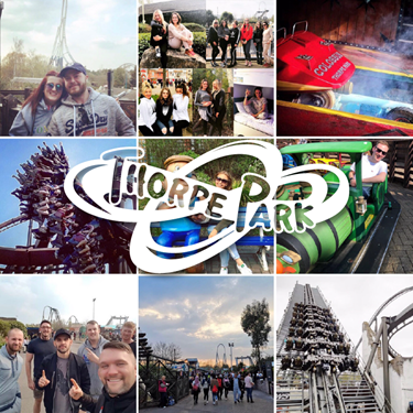 Thorpe Park Opening Weekend Photo Collage
