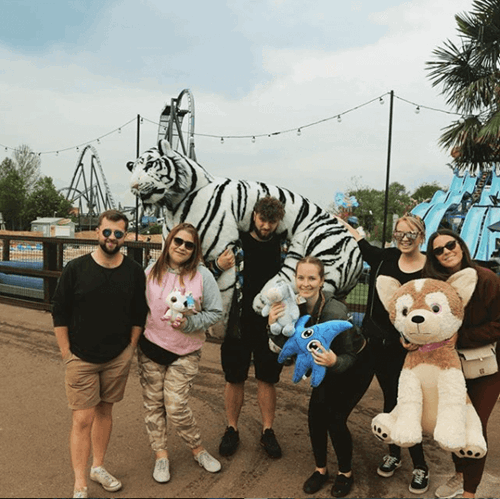 Guests With A Stuffed Toy Tiger