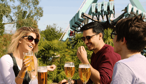Thorpe Park Oktoberfest, Guests Drinking