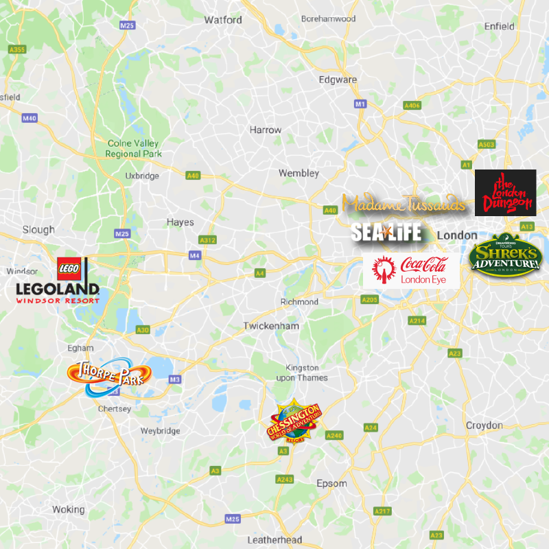 Map Of Merlin Attractions In London