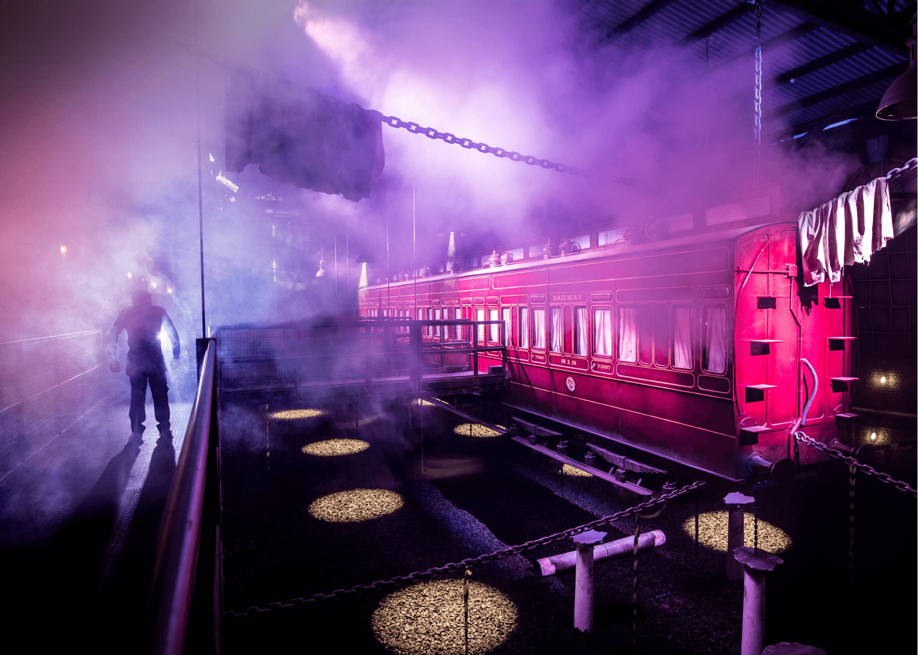 Derren Brown's Ghost Train Hanging Train