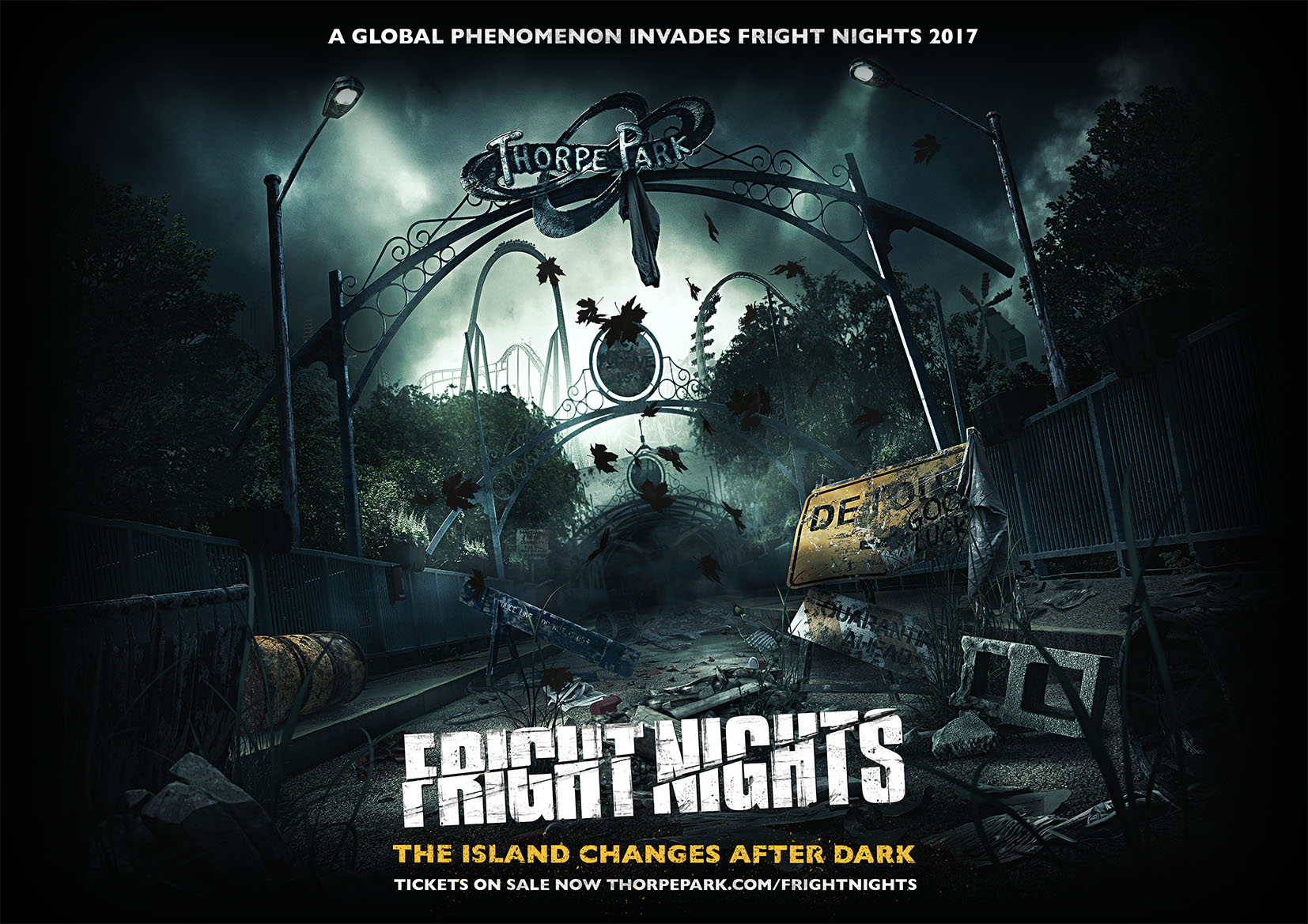 Fright Nights 2017 Visual featuring spooky scenery