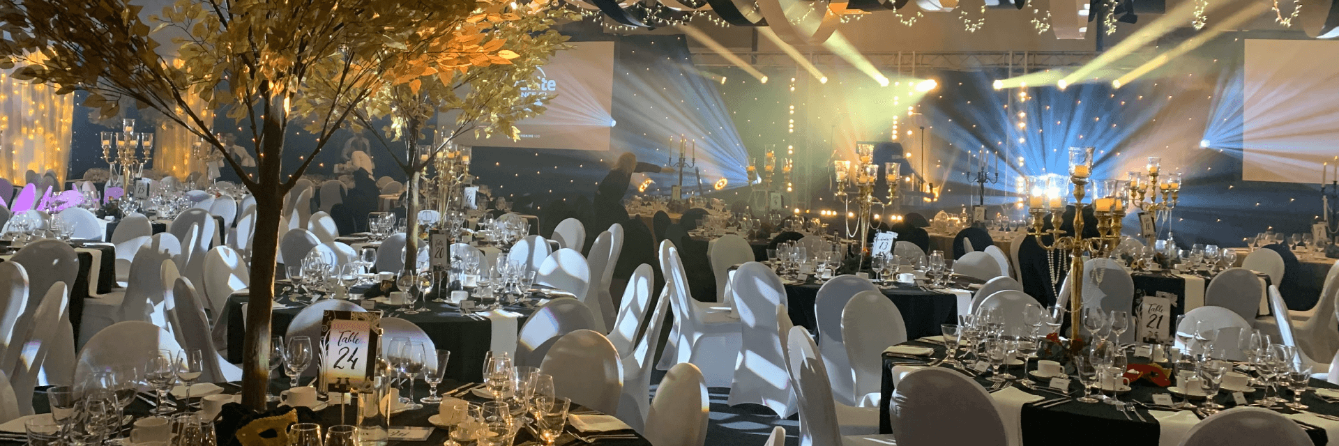 Unique Event Location, Set Up With An Autumn Style Theme