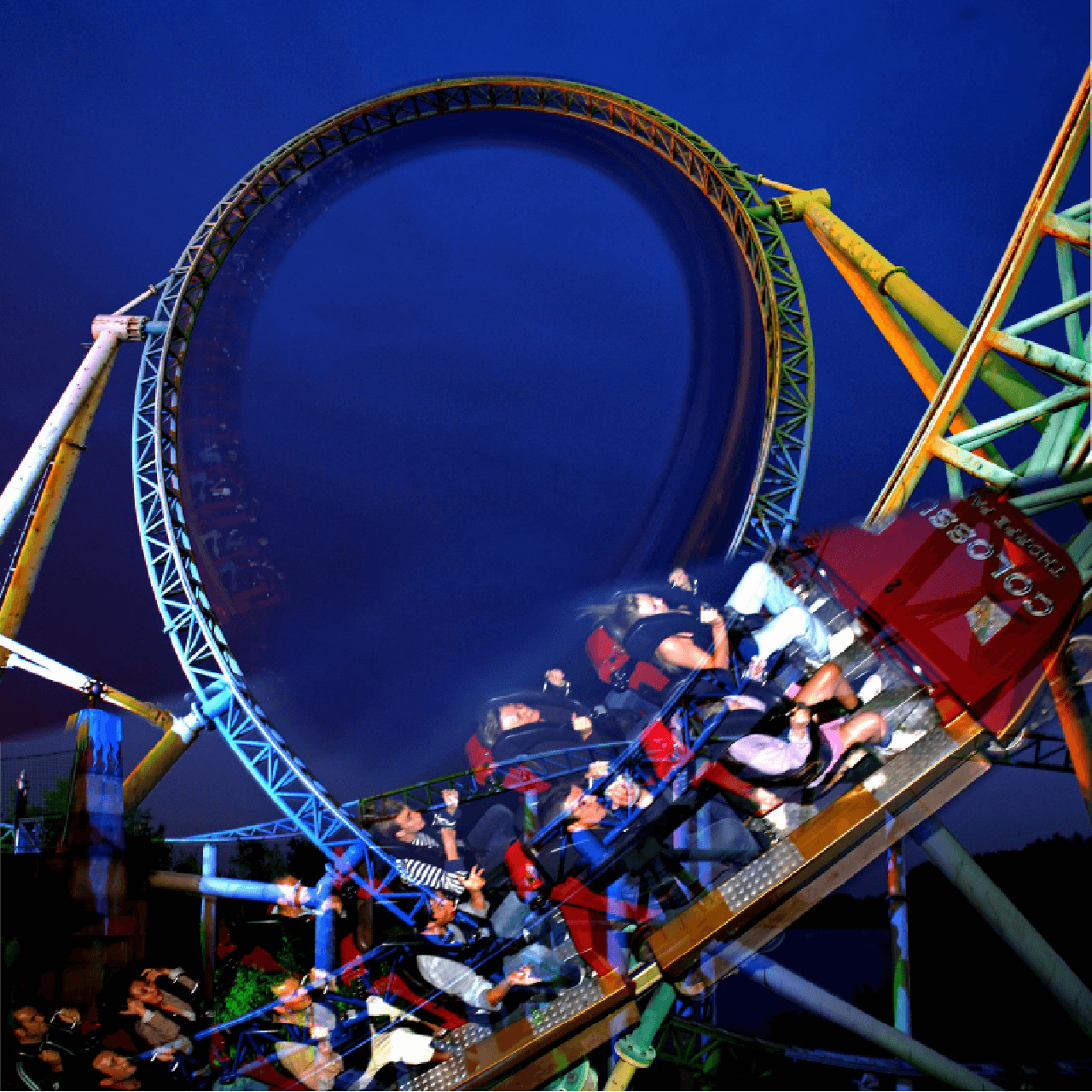 Rollercoasters at Night