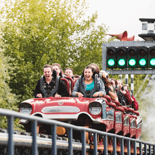 Guests On Stealth Launched Rollercoaster