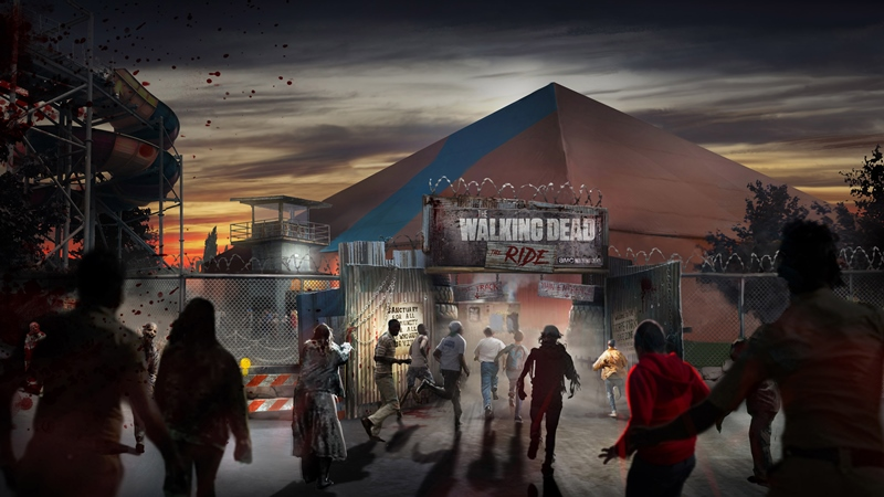 The Walking Dead The Ride Rollercoaster Exterior & Entrance