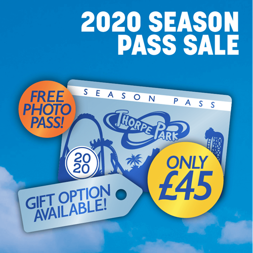 2020 Season Pass Sale, Free Photo Pass! Gift Option Available! Only £45