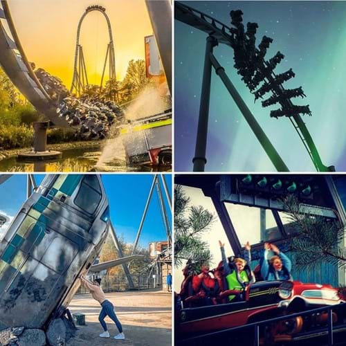 Rollercoaster Collage