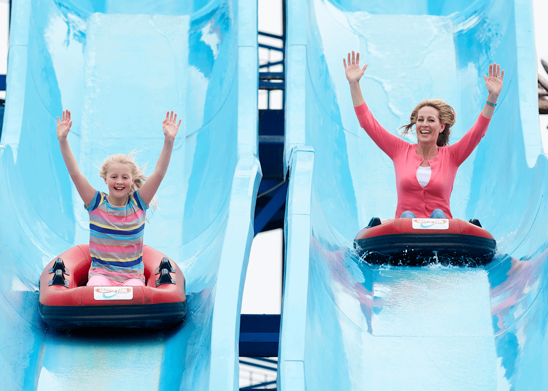 Depth Charge Water Slide , Female Guests