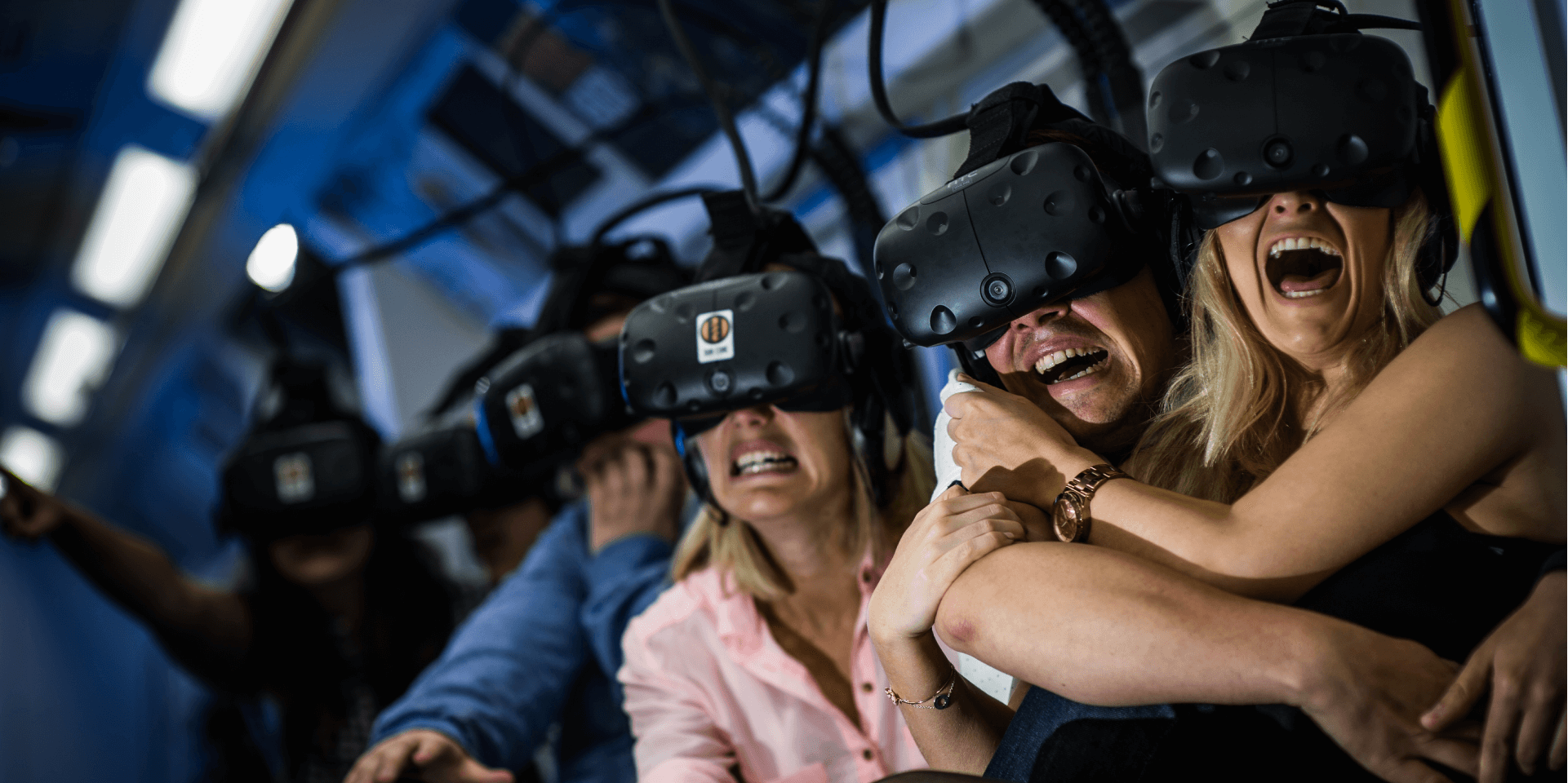 Derren Brown Ghost Train , Screaming Guests Wearing VR Headsets