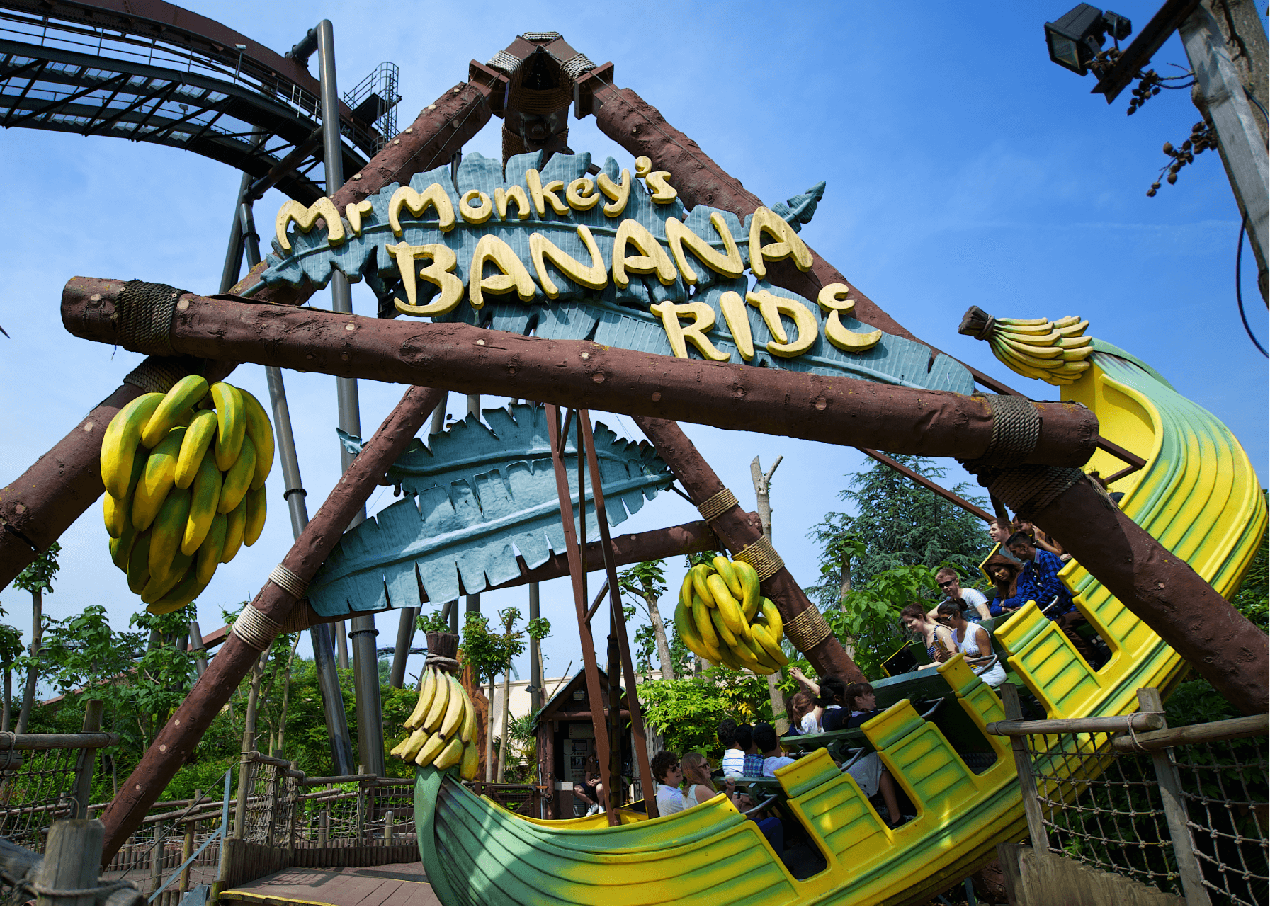 Mr Monkeys Banana Ride Thorpe Park Overview