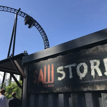 SAW Horror Rollercoaster Store Exterior
