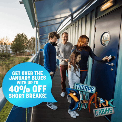Up To 40% off Breaks at the Thorpe Shark Cabins