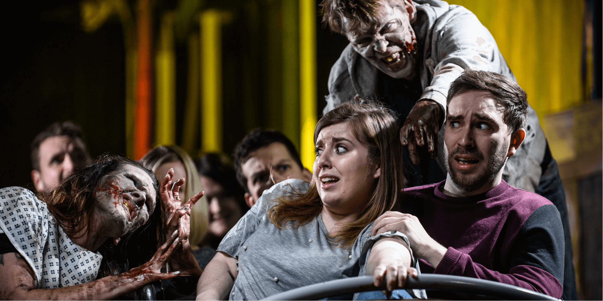 The Walking Dead Rollercoaster , Walkers Attacking Guests