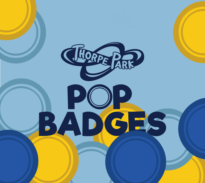 Thorpe Park Resort Pop Badges